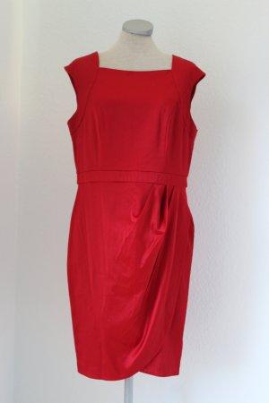 Apricot Sheath Dress red