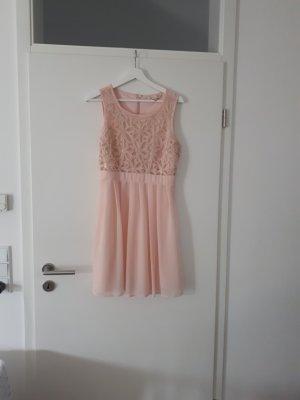 Apricot Sommerkleid, Kleid kurz festlich, Standesamtkleid