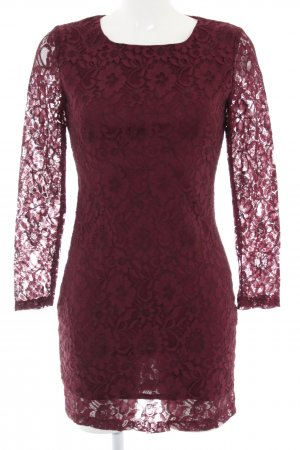 Apricot Lace Dress red flower pattern business style
