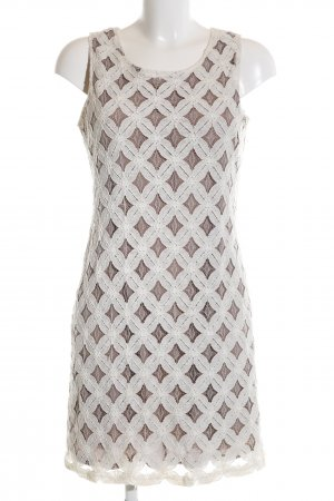 Apricot Lace Dress brown-cream graphic pattern casual look