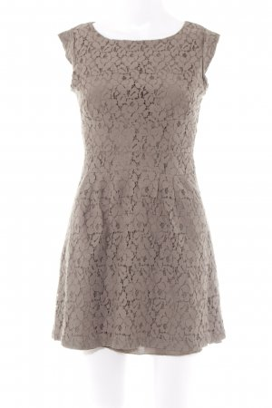Apricot Lace Dress light brown flower pattern casual look