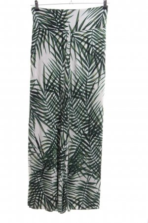 Apricot Jersey Pants white-green flower pattern casual look