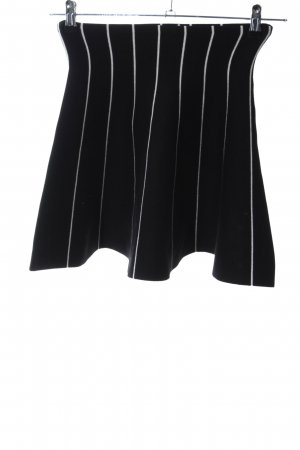 Apricot Stretch Skirt black-white striped pattern casual look