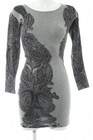 Apricot Knitted Dress grey-black abstract pattern casual look
