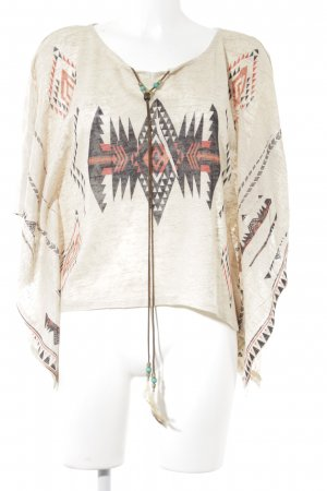 Apricot Blusa a tunica Motivo Azteco stile spiaggia