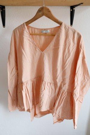 Apricotfarbene Bluse von Zara