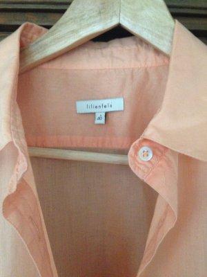 Apricotfarbene langärmelige Bluse der Firma lilienfels Gr.40