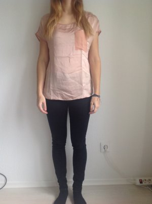 Apricotfarbene T-Shirt Bluse H&M