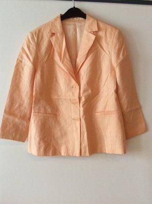 Apricotfarbener Leinenblazer Gr 42
