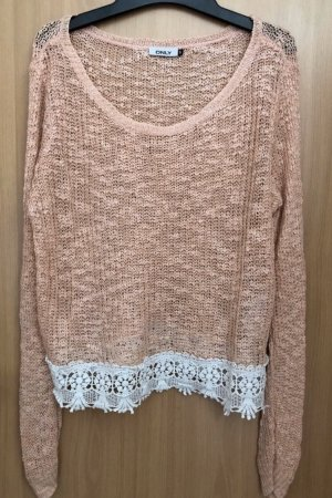 Only Coarse Knitted Sweater salmon-apricot