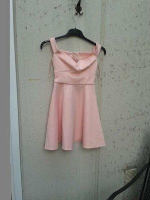 apricotfarbenes Kleid im Bardot Stil, Größe 38, ASOS neu und ungetragen
