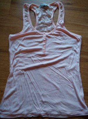 Apricotfarbenes Top mit Rücken aus Spitze