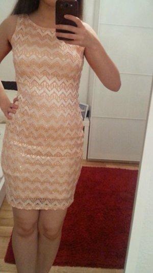 Aprikose Kleid mit Glitzer