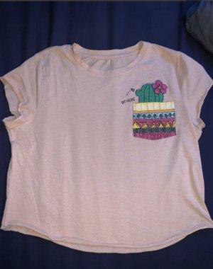 aprikosefarbenes T-Shirt