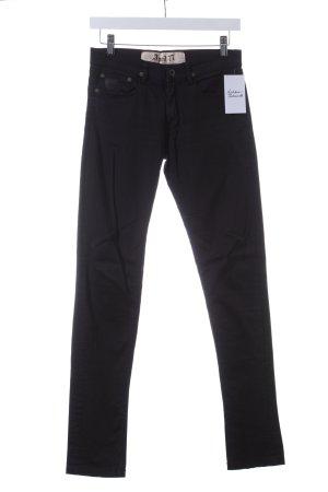 April 77 Five-Pocket-Hose schwarz schlichter Stil