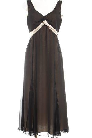 Apriori Vestido de noche negro-crema elegante