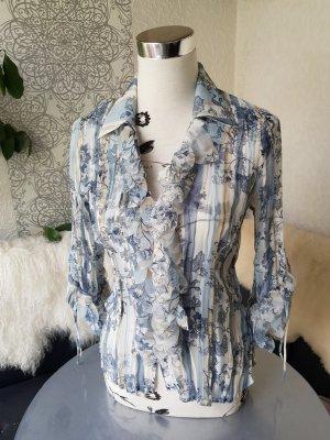 Apriori Bluse Gr. 38 pastellblau transparent neuwertig
