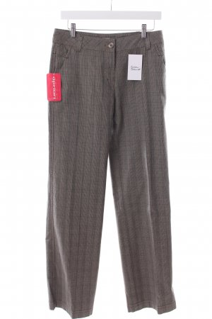 Apriori Pleated Trousers beige-black glen check pattern Brit look