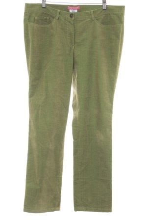 Apriori Pantalone di velluto a coste verde prato stile casual