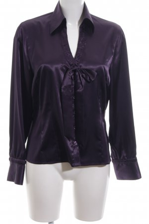 Apriori Blouse brillante violet style d'affaires
