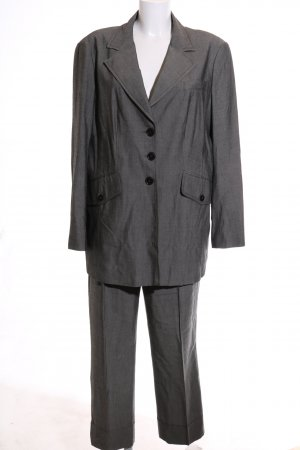 Apriori Trouser Suit light grey allover print business style