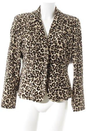 Apriori Jersey Blazer amarillo-negro estampado de leopardo estilo fiesta