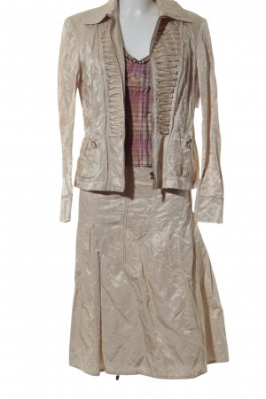 Apriori Ladies' Suit gold-colored-cream check pattern business style