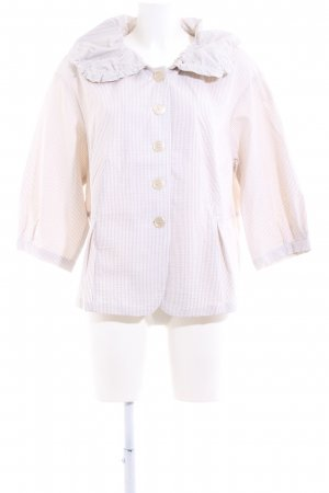 Apriori Short Blazer natural white-white striped pattern casual look