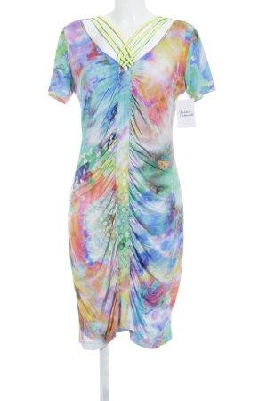 Apriori Kurzarmkleid abstraktes Muster Hippie-Look