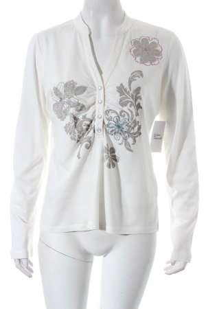 Apriori Langarm-Bluse florales Muster Casual-Look