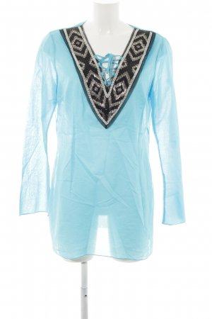 Apriori Long Sleeve Blouse light blue casual look