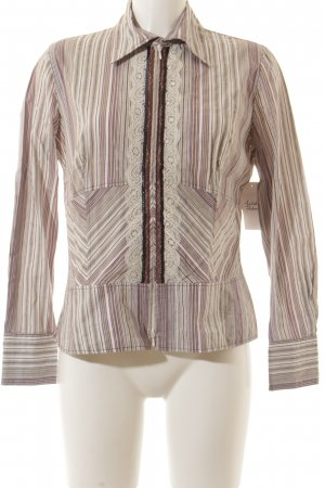 Apriori Long Sleeve Blouse striped pattern elegant
