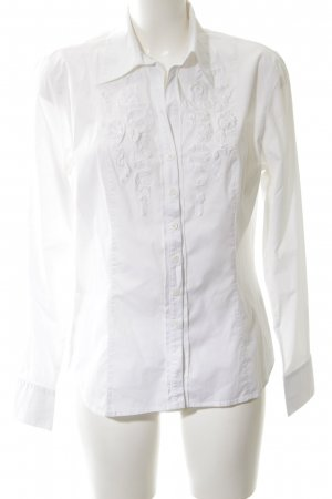 Apriori Long Sleeve Blouse white business style