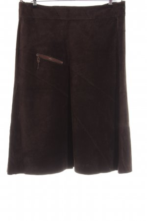 Apriori Leather Skirt brown casual look
