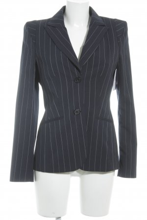 Apriori Long Blazer dark blue-natural white pinstripe casual look