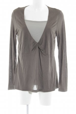 Apriori Longsleeve grey brown-sage green casual look