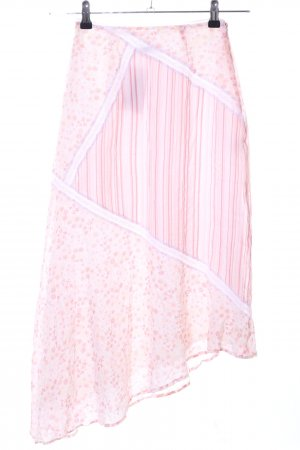 Apriori Midi Skirt pink-white abstract pattern casual look