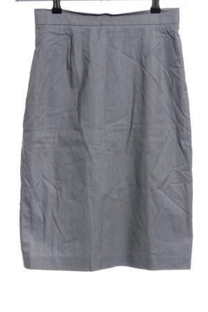Apriori Midi Skirt light grey weave pattern business style