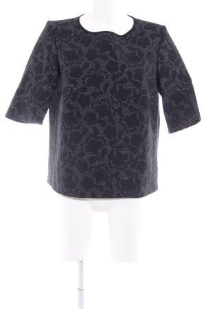 Apriori Camisa holgada negro-color plata estampado gráfico elegante
