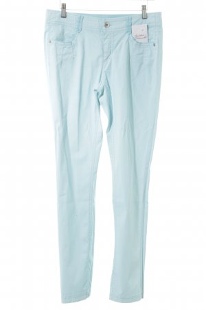 Apriori Drainpipe Trousers baby blue casual look