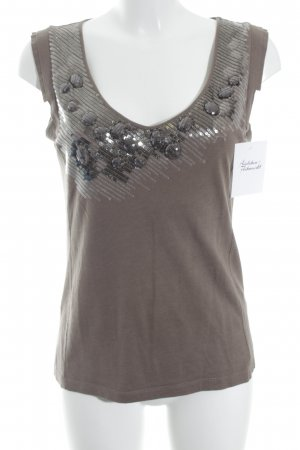 Apriori Off-The-Shoulder Top grey brown-silver-colored casual look