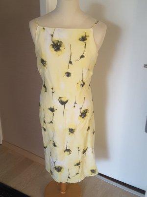Apriori Vestido tipo overol gris claro-amarillo claro