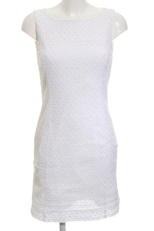 Apriori Trägerkleid weiß Fischgrätmuster Elegant