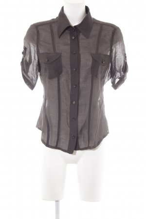Apriori Transparent Blouse dark brown elegant