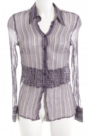 Apriori Transparent Blouse striped pattern casual look