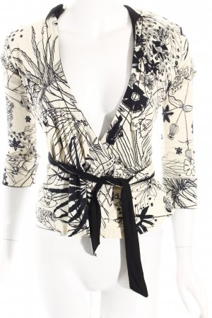 Apriori Wraparound Blouse beige-black floral pattern casual look