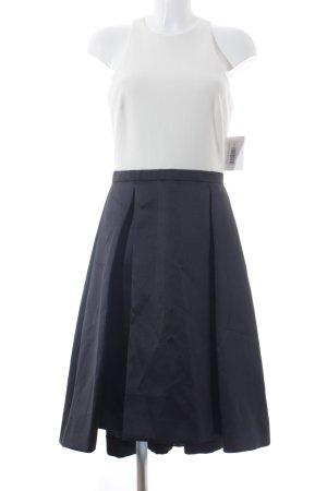 Aqua Abendkleid schwarz-weiß Elegant