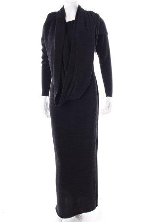 Aqua Maxi-jurk zwart-donkergrijs gestippeld