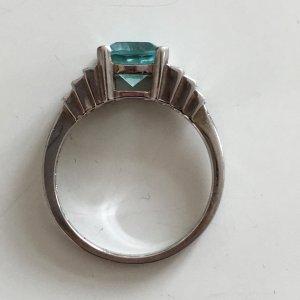 Aquamarin Sterling Silber Ring  Edelstein Bergkristall echtsilber 925