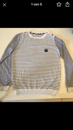 Aquascutum Pull tricoté blanc-noir